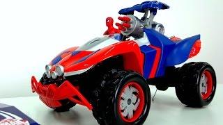 Человек - паук видео с игрушками. Машинки и Автовоз. Автомобиль супергероя. Игрушки для детей.(, 2015-05-20T11:12:42.000Z)