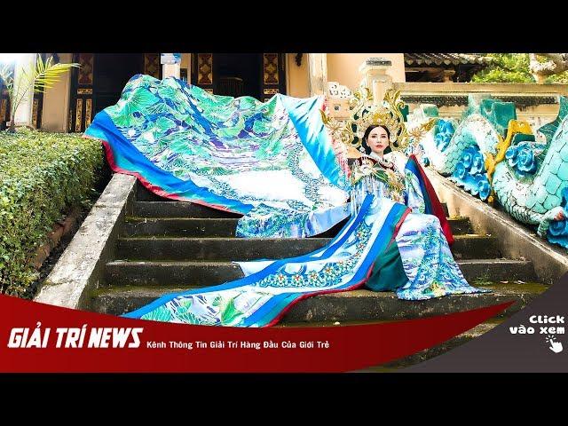 Châu Ngọc Bích mang bộ quốc phục Bạch Liên Hoa tới đấu trường sắc đẹp quốc tế Mrs Universe 2018