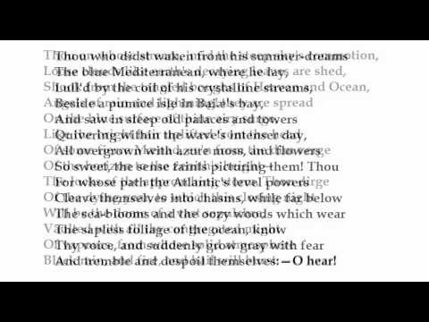 """Ode to the West Wind"" by Percy Bysshe Shelley (read by Tom O"