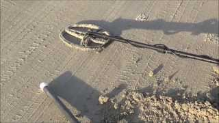 Metal Detecting Stewart Beach, Galveston Island, on Valentine