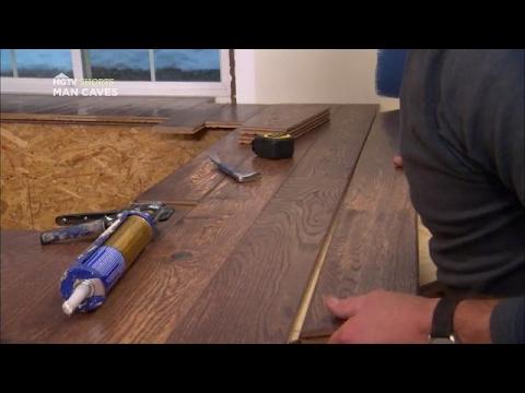 Flooring as a Bar Top | Man Caves | HGTV Asia