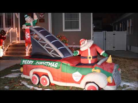 Santa Fire Rescue Airblown Inflatable Christmas