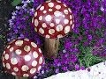 How to make Decorative Toadstools for your Garden