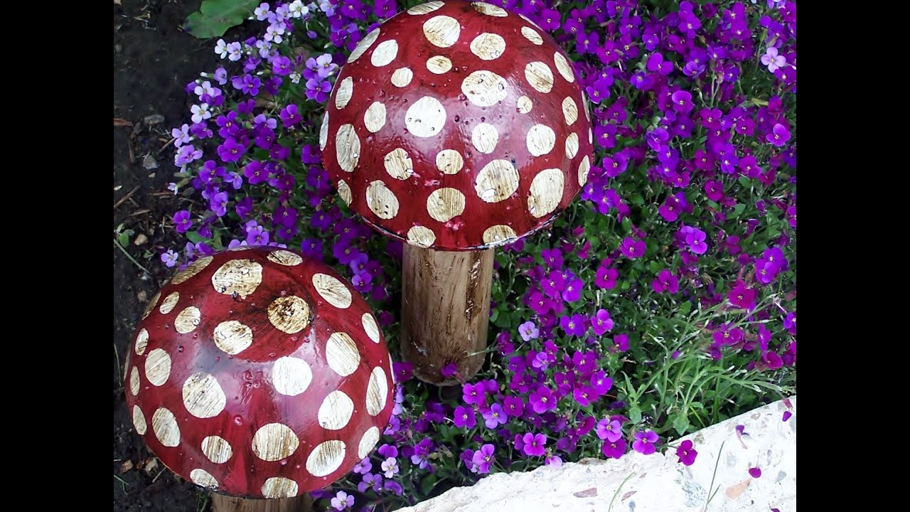 Image Result For How To Make A Garden Mushroom