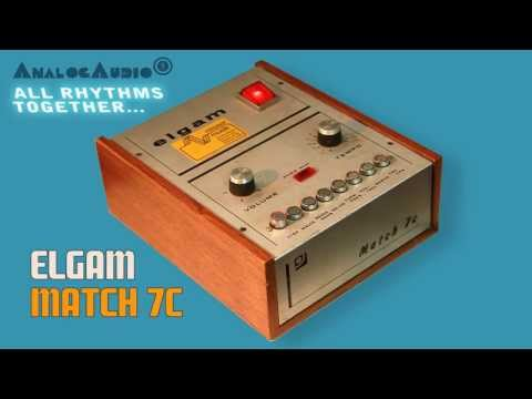 ELGAM MATCH 7c Vintage Rhythm Box 1972 | HD DEMO