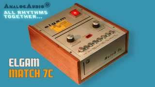 ELGAM MATCH 7c Analog Rhythm Box 1972 | HD DEMO