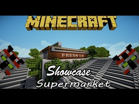 how to make a supermarket on minecraft