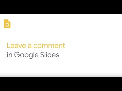 How To: Leave a comment in Google Slides