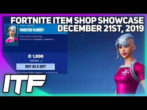 Fortnite Item Shop *NEW* FROSTED FLURRY SKIN + EMOTE! [December 21st, 2019] (Fortnite Battle Royale)
