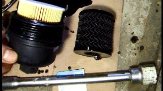 Peugeot 206  Замена масляного фильтра ( 1109 CK ) и масла