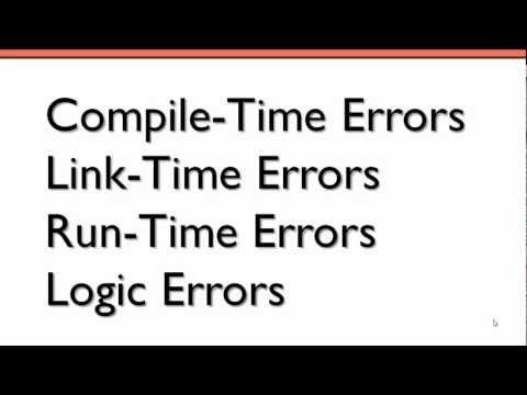 Programming Errors (C++)