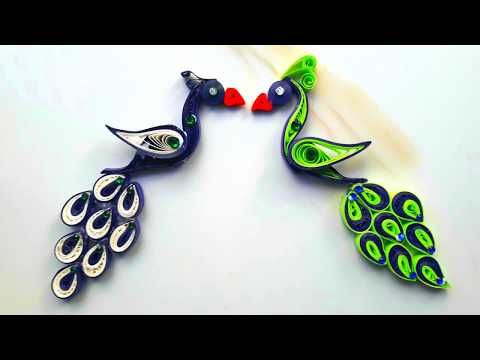 DIY paper quilling peacock tutorial | How to make paper quilling peacock step by step