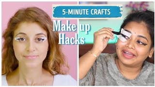 Testing out 5 MINS CRAFT Makeup Hacks in Tamil ( I would have gone bald )