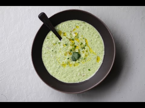 Andrew Zimmern Cooks: Cold Cucumber Soup
