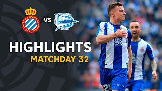 Highlights RCD Espanyol vs Deportivo Alaves (2-1)