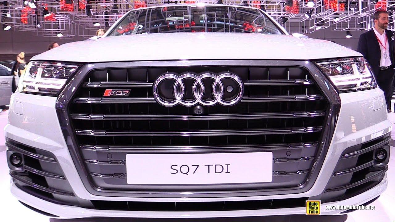 Audi audi sq7 tdi : 2017 Audi SQ7 TDI - Exterior and Interior Walkaround - 2016 Paris ...