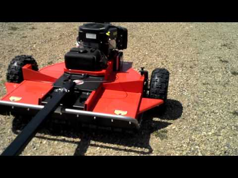 Pull Tow Behind Mower Brush Hog Project Part 3 Trail