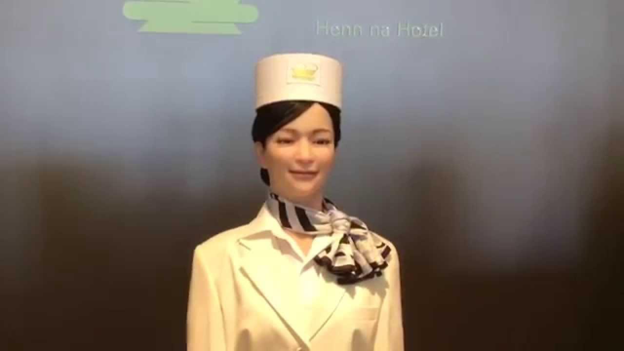Two Receptionist Robots At Henn Na Hotel Huis Ten Bosch Raw Video