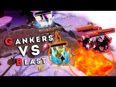 Beast против Гангеров в Albion-е!