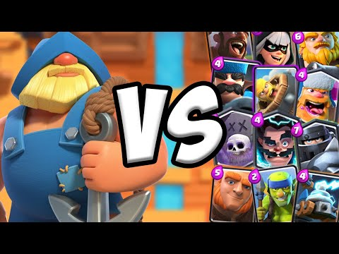 Fisherman GAMEPLAY Vs All Cards | Clash Royale