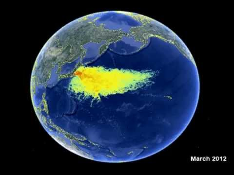 Fukushima Radioactive Ocean Impact Map March Update YouTube - Fukushima radiation 2016 us map
