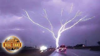 HUGE TREE SHAPED LIGHTNING BOLT -  real or fake?
