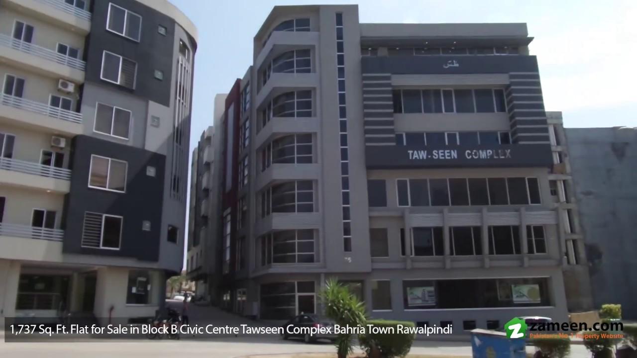Apartments For In Tawseen Complex Block B Civic Centre Bahria Town Rawalpindi