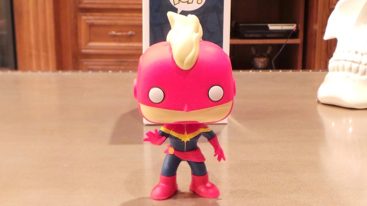 masked captain marvel funko pop!