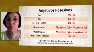 aula espanhol adjetivos posesivos espaol