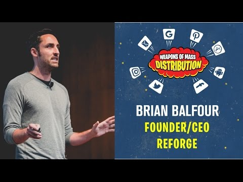 "[WMD 2016] Reforge, Brian Balfour ""How to (actually) become elite at growth"""