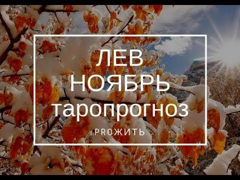 Лев Ноябрь 2018 Таропрогноз