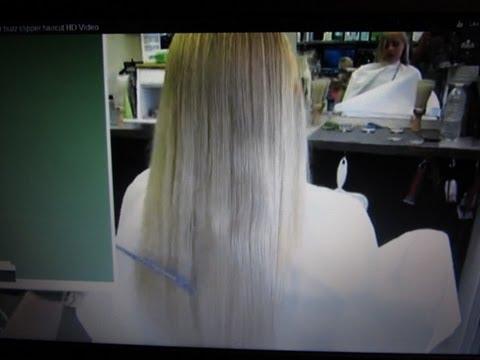 Long Blonde Hair Clipper Cut Round Haircut Video Youtube