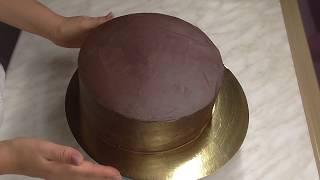 Как покрыть торт Ганашем.