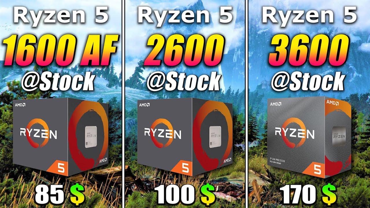 Ryzen 5 1600 AF vs Ryzen 5 2600 vs Ryzen 5 3600 | PC Gaming Benchmark Test - YouTube