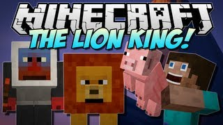 Minecraft | THE LION KING! (40+ New Mobs and 3 New Dimensions!) | Mod Showcase [1.5.1]
