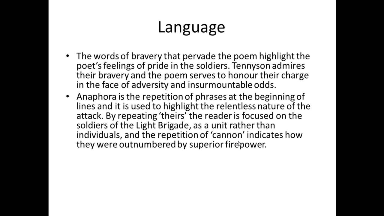 charge of the light brigade poem meaning