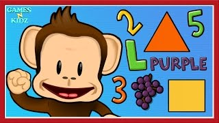 Baby Learn Colors, Shapes & Numbers - Toddler Learning Games - Monkey Preschool Game For Kids