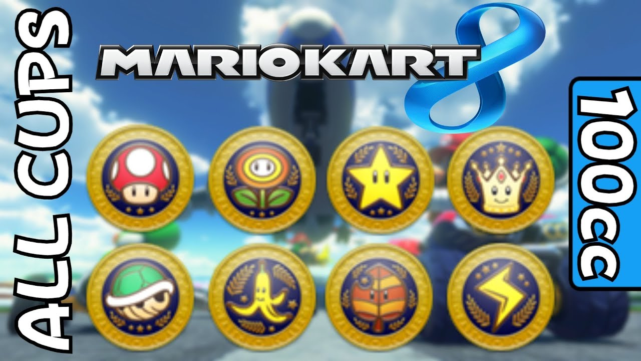mario kart 8  all cups  courses on 100cc all 32 tracks