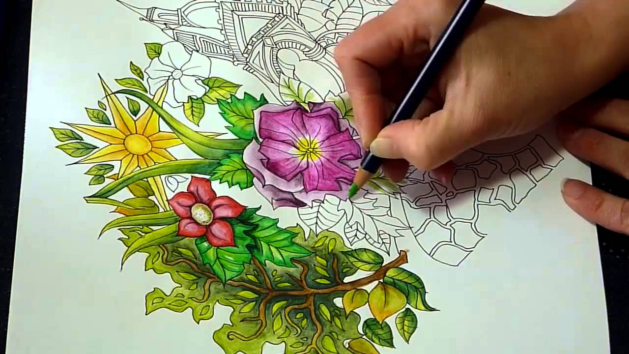 Th the magical city colouring in book - Speed Colouring The Magical City With Derwent Inktense Pencils Hyde Park Youtube