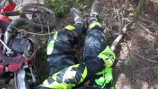 Justin carter BRUTAL DIRT BIKE CRASH leg impailed by tree branch