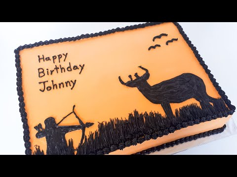 How To Make A Silhouette Hunting Cake