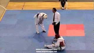 58kg Emre Yazici - Recep Ezer (2012 Turkish Taekwondo Championships Under -21)