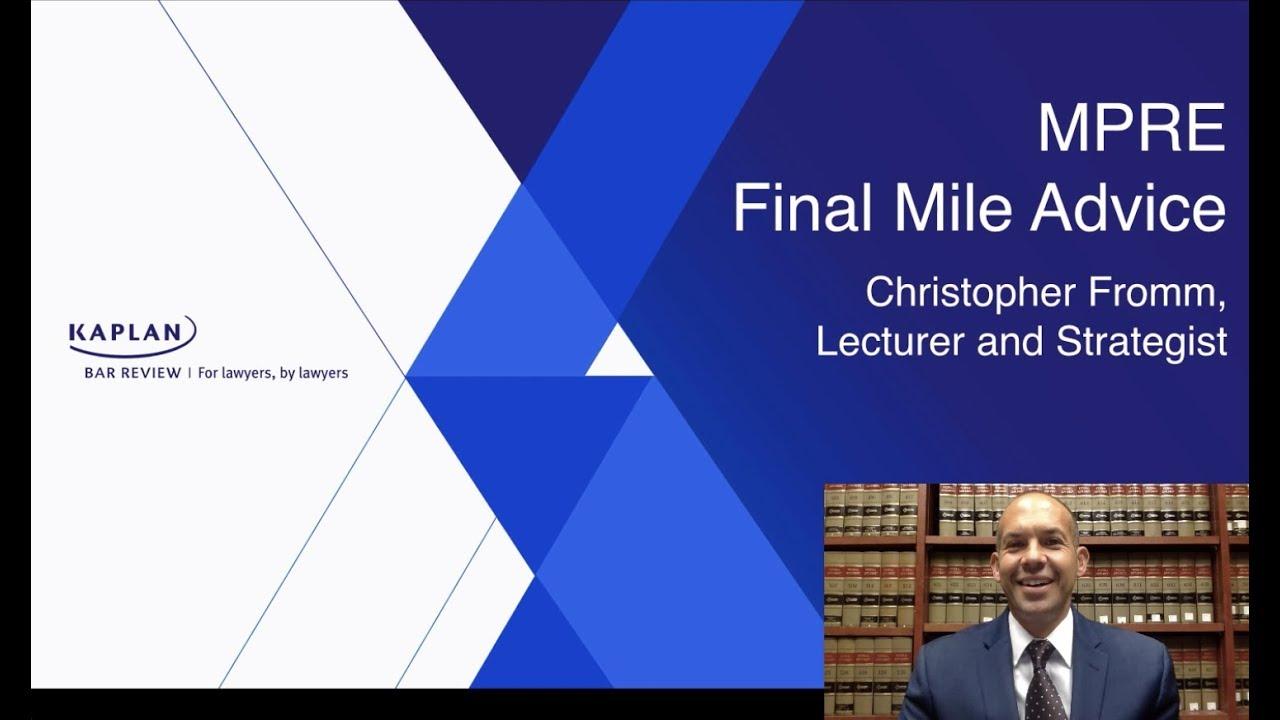 MPRE - The Final Mile