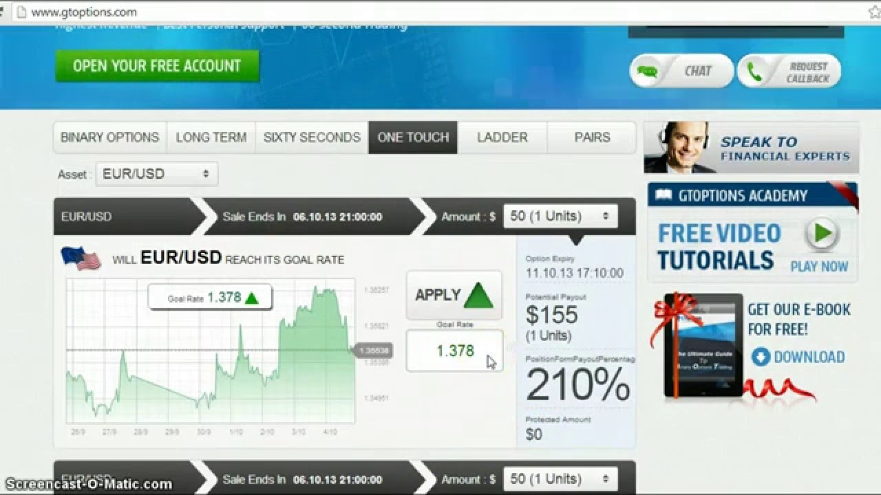 Forex 60s binary options system
