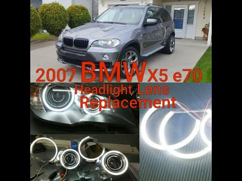 SUBSCRIBE! - BMW X5 E70 HEADLIGHT ASSEMBLY REMOVAL LENS REPLACEMENT HALO XENON CCFL LED LIGHT