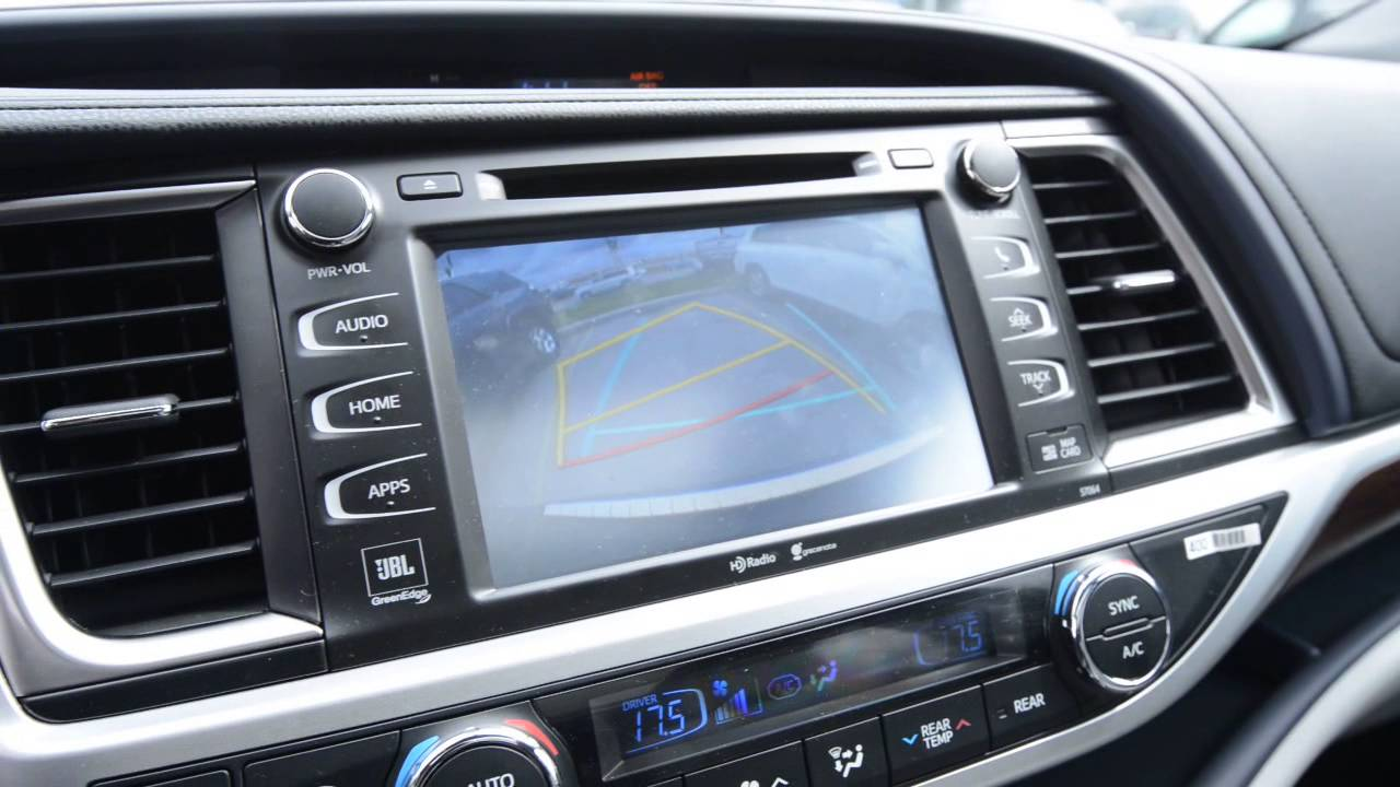 2015 Toyota Highlander Limited Back Up Camera Youtube