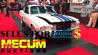 1 of 1 1967 Shelby GT Super Snake  just sold for a hammer price of $2 million