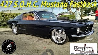 1967 Mustang Fastback 427 SOHC powered Hot Rod Ponies at the Pike 2015 Mustang Connection