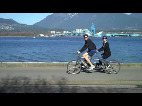 Tandem Bicycling Around Stanley Park Vancouver Youtube