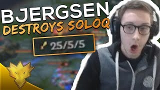 TSM Bjergsen & Doublelift DESTROY SoloQ! - TSM Bjergsen Stream Highlights & Funny Moments